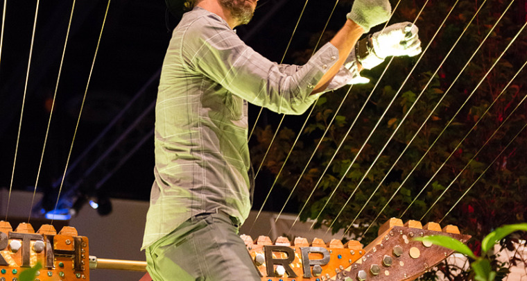 William Close & The Earth Harp :: Calgary Stampede :: Calgary Event Photography